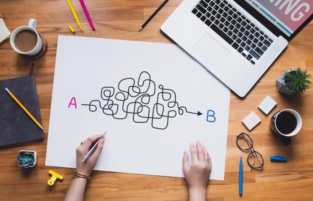 人の思考と仕事のマインドマッピングのアイデア