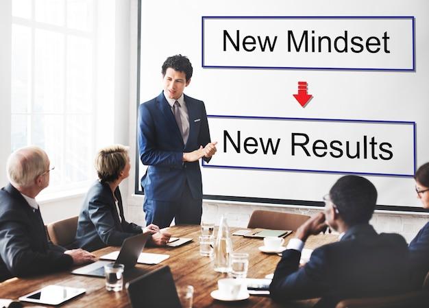 Mentalità opposta positività negatività pensando concept