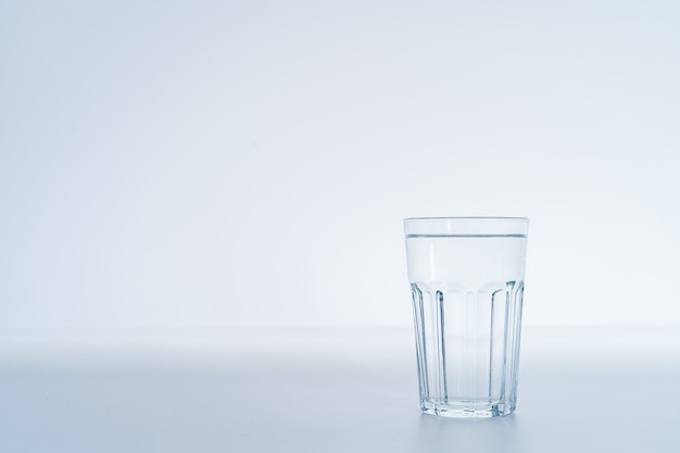 Mineral drinking water in a glass