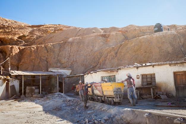 Miners in potosi