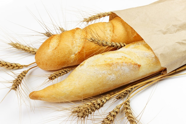 Mini baguettes in pacage with wheat