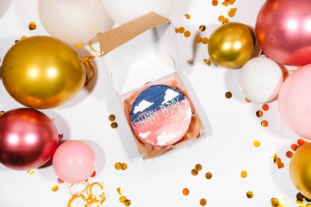 Мини день рождения торт праздник фон