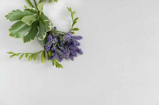 Mini bouquet of blue flowers