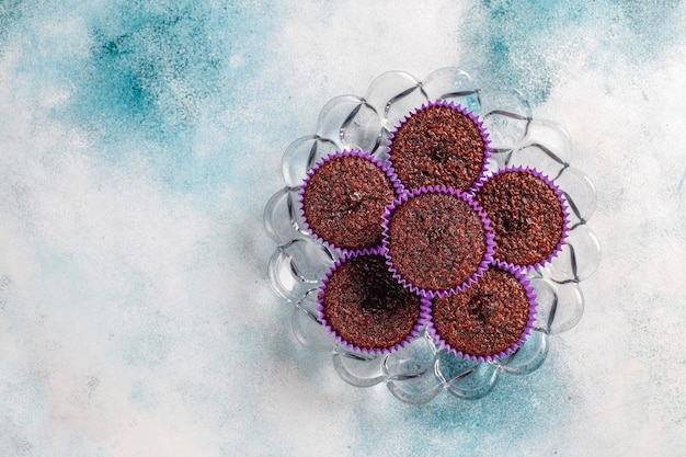 Мини-шоколадные кексы суфле