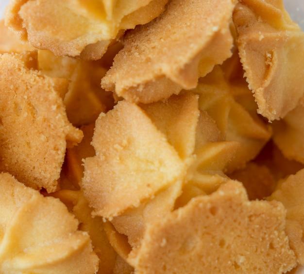 Mini cookies vanilla tasty dessert