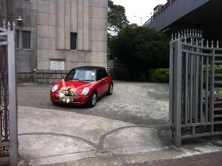Mini cooper as wedding car