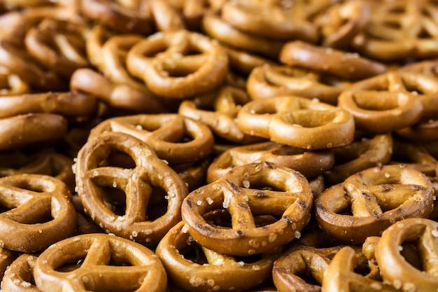 Mini pretzels background