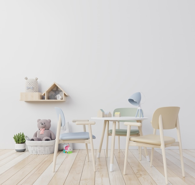 Mini scandinavian silla menta, children's room.