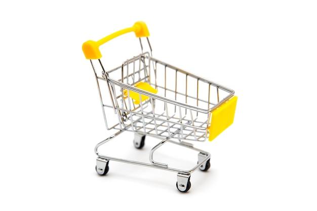 Mini shopping cart isolated