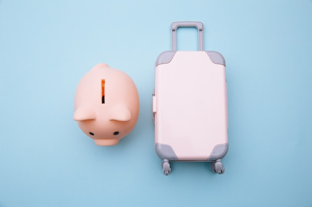 貯金箱付きミニトラベルラゲッジスーツケース