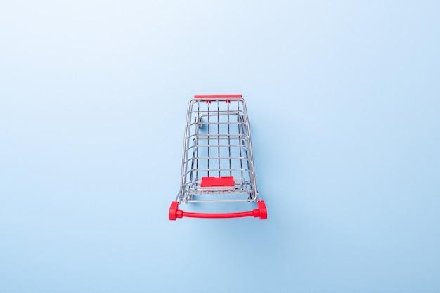 Mini trolley cart copy on blue