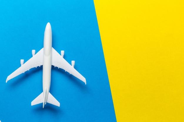Miniature airplane travel theme