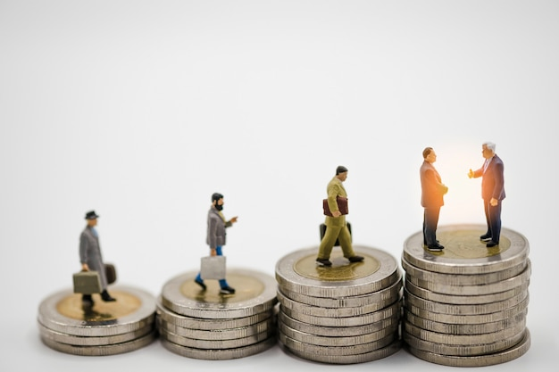 Miniature business man model