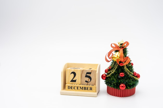 Miniature christmas tree celebrate christmas on december 25 every year.