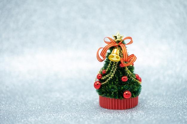 Miniature christmas tree celebrate christmas on december 25 every year.