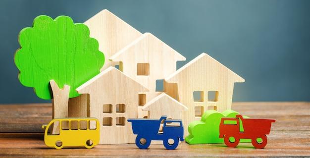 Miniature city. children's figures
