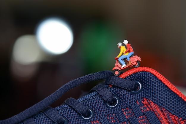Miniature figure 바이커 스쿠터 여행 장난감 어린이