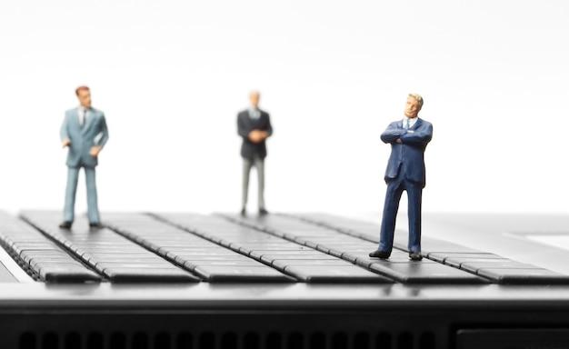 Miniature figurines of businessman