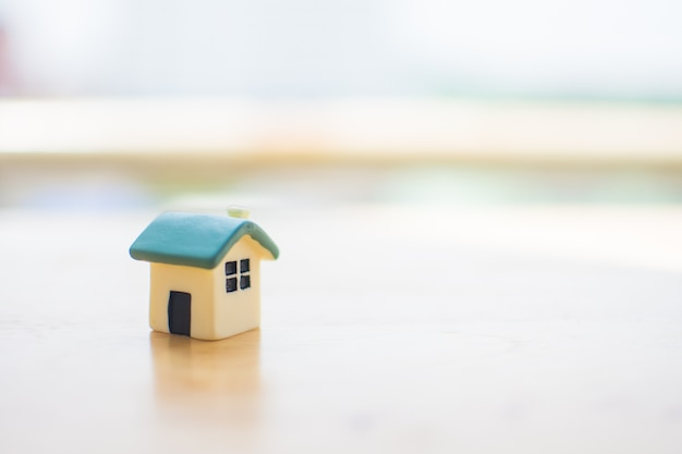 Miniature of house with blur background. subject is blurred.