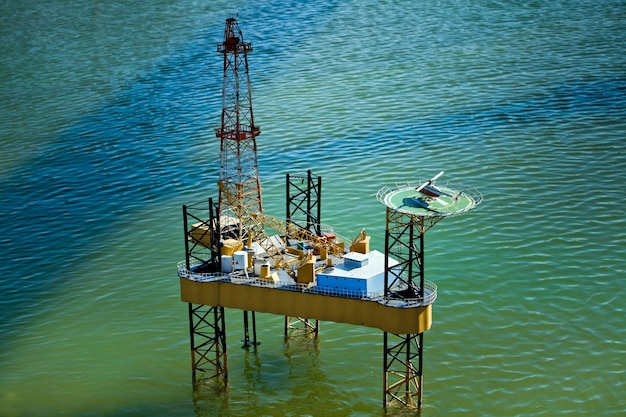 Miniature of oil rig in park of miniatures