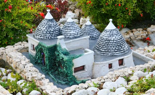 Miniature of trulli in alberobello