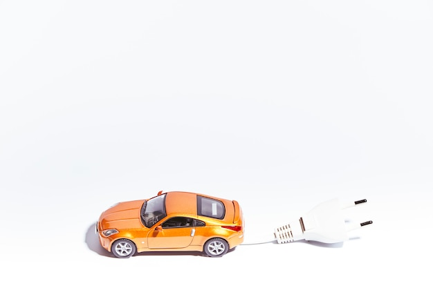 Miniature of a vehicle with electric plug