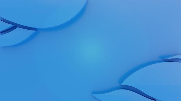 아내 papercut 스타일로 최소한의 3d 파란색 배경