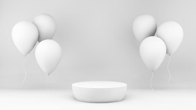 Минимальная платформа для 3d-рендеринга и воздушные шары