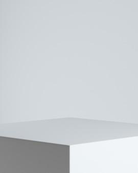 흰색 background.3d 렌더링 그림에 제품 프레 젠 테이 션에 대 한 최소한의 추상 background.podium 개념