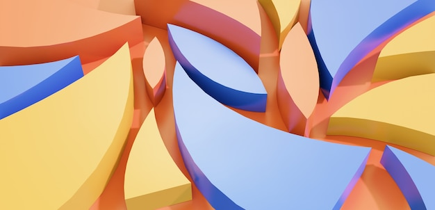 최소한의 추상 화려한 3d 기하학 모양 배경