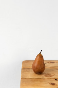 Minimal abstract concept pear copy space