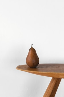 Minimal abstract concept pear front view