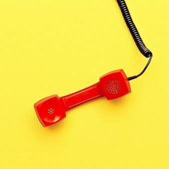 Minimal art design vintage red phone