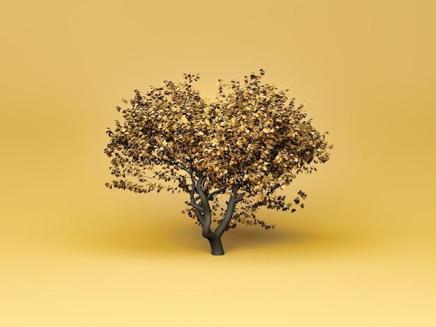 부드러운 배경에 최소한의 가을 나무