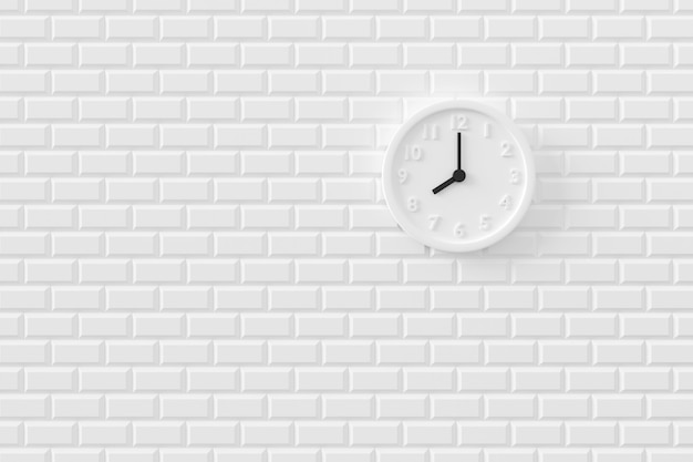 Minimal background of the clock on wall. 3d rendering.
