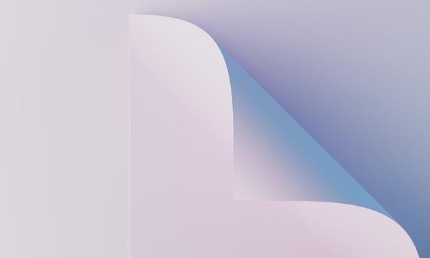 화장품 브랜딩 및 포장 프레젠테이션을 위한 최소한의 배경. 무대 파스텔 색상입니다. 3d 그림입니다.