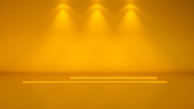 최소한의 배경, 제품 전시용 연단으로 장면을 조롱하십시오. 3d 렌더링