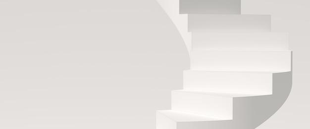 Минимальный фон, макет сцены с подиума для отображения продукта. 3d рендеринг