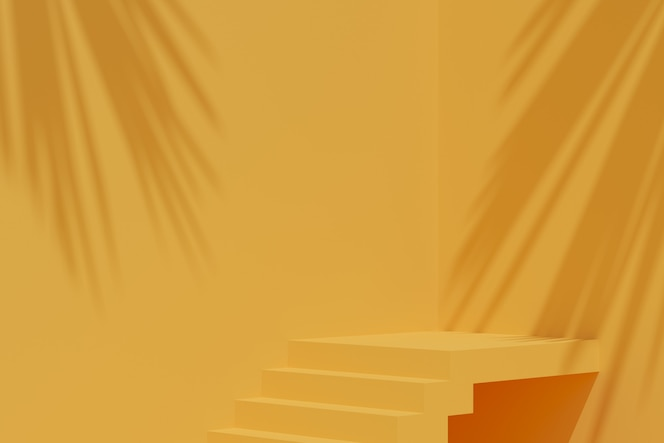 Minimal background, mock up scene with podium for product display. 3d rendering