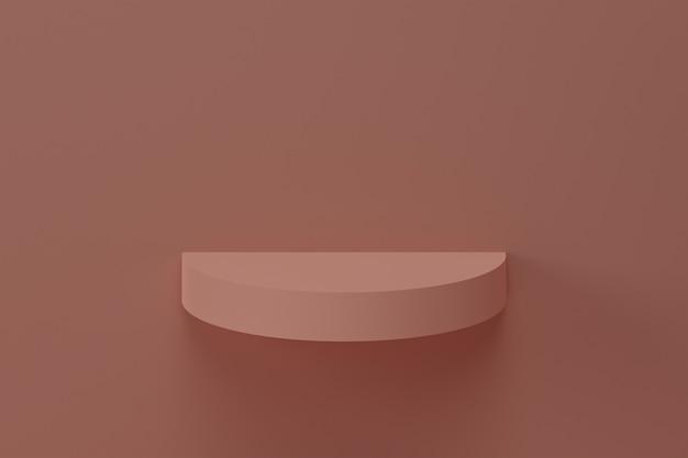 Минимальный фон, макет с подиумом для демонстрации продукта, абстрактная белая геометрическая форма