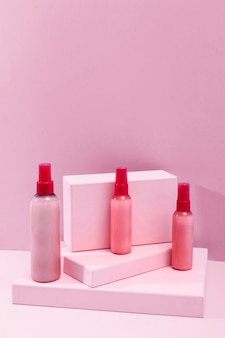 Minimal beauty products assortment