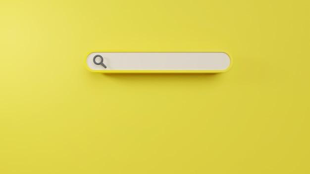 Минимальная пустая панель поиска в 3d-рендеринге