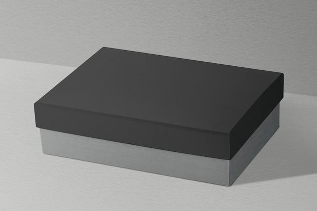 Minimal box on gray backdrop