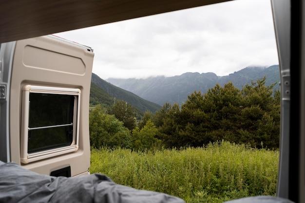 Dettaglio minimo camper indoor