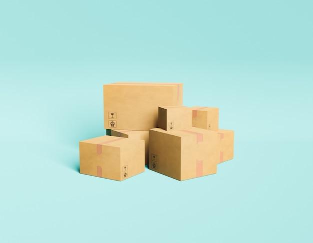 Пакеты с минимальной доставкой уложены в стопку