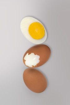 Minimal easter concept idea of boiled egg.