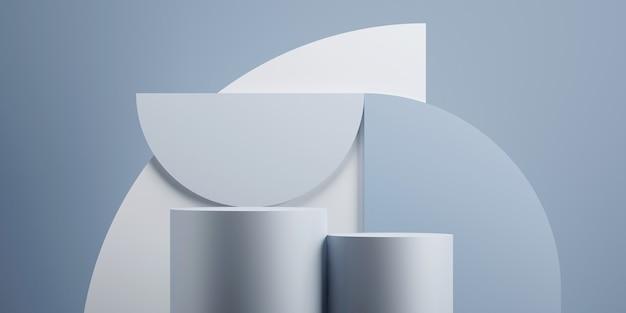 Минимальный геометрический подиум синий фон для презентации продукта 3d рендеринг иллюстрации