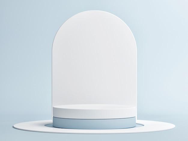 美容機器製品のプレゼンテーションのための最小限の幾何学表彰台3dレンダリング3dイラスト