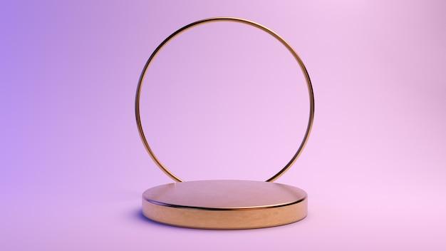 제품 프레젠테이션을위한 최소한의 황금 플랫폼
