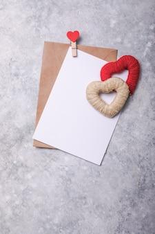 Минимальная открытка для святого валентина